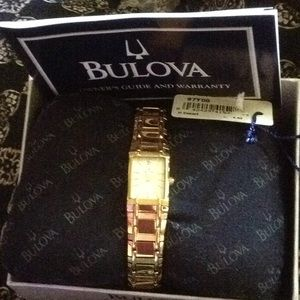 New Bulova Mother of Pearl with Diamond Watch